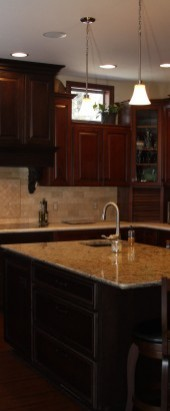 Riverside Maple door in Truffle, Riverside Maple Door in Empire w/ Onyx Glaze; Kitchen & Floor Decor - WI
